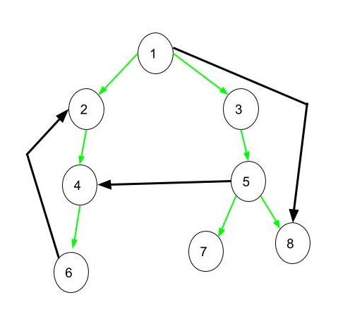 Edge types in a directed graph